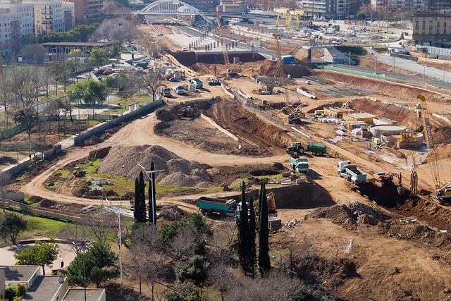 Antiguo parque de Sant Martí, totalmente desmantelado - 30-01-12