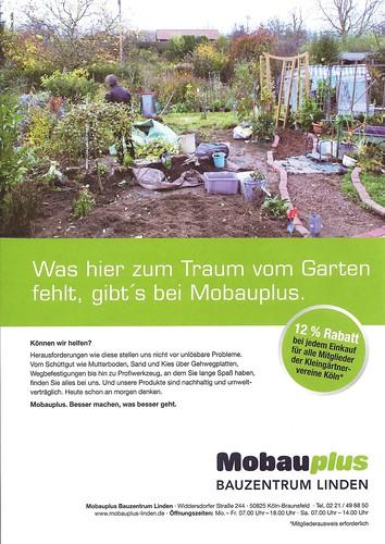 Mam's Garten ziert Werbung von MobauPlus