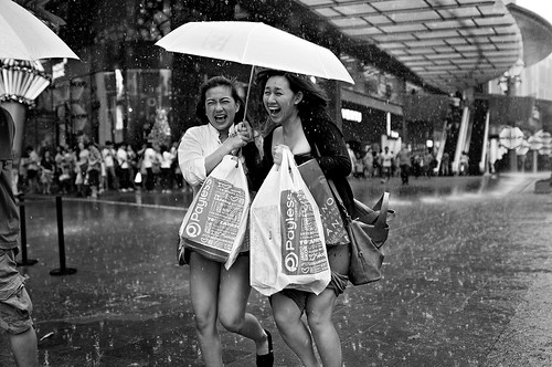 rain shot in Orchard Road