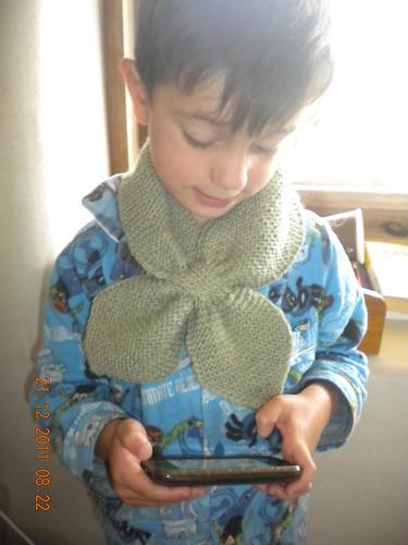 Knitted Neck Scarf - martha stewart pattern