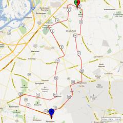 12. Bike Route Map. Hamilton Area YMCA, Crosswicks, NJ