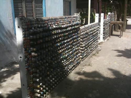 muro de botellas