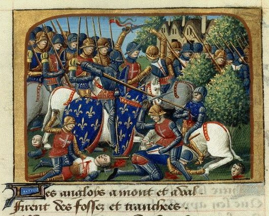 15th century depiction of the Battle of Formigny.