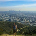 The view of Los Angeles from the top of Runyon Canyon Park.
