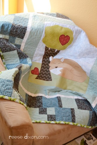 Machine Appliqued Quilt