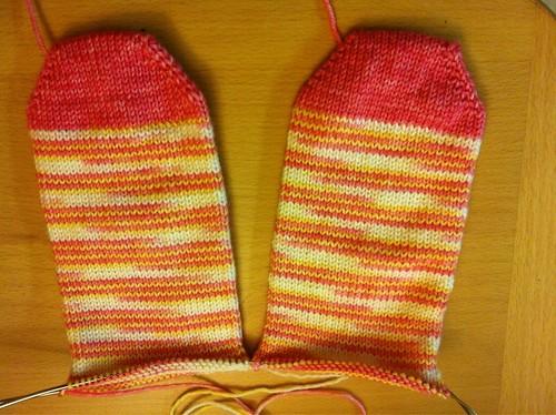 Pink socks by wonkydonkey