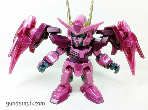 SD Gundam Online Capsule Fighter Trans Am 00 Raiser Rare Color Version Toy Figure Unboxing Review (32)