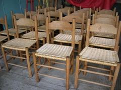 Restored oak chairs