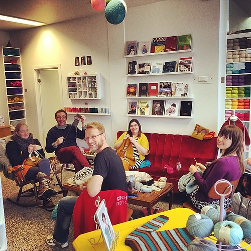 Perfect Saturday with amazingly talented knitters