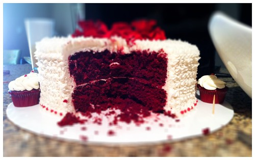 Red Velvet Cake I made with Cream Cheese Frosting