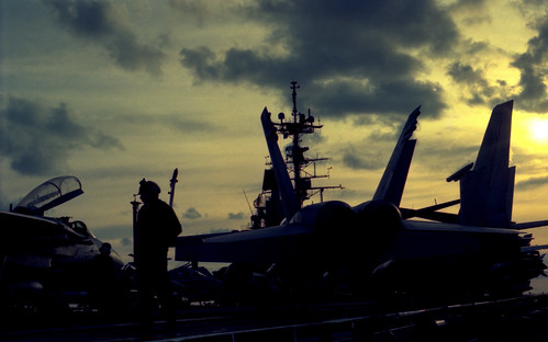 F/A-18 on Flight Deck of CV-62