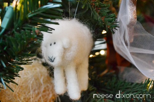 Needlefelted Sheep Ornament