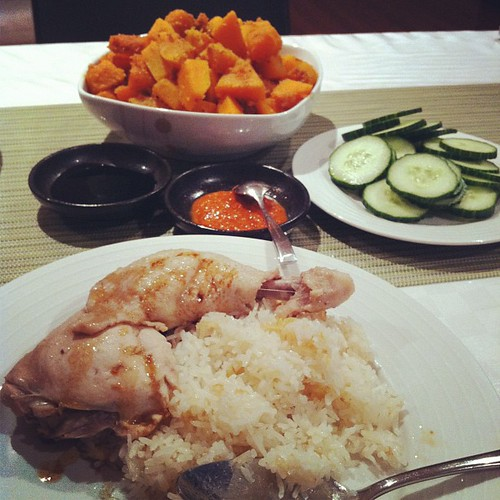 Tonight Dinner : Chicken Rice