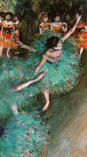 Edgar Degas - Green Dancer, 1879 at Thyssen-Bornemisza Museum Madrid Spain