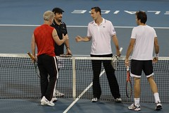 WTC Adelaide - Handshakes after Doubles