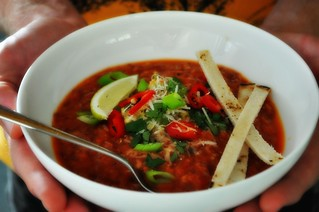 red bean tortilla soup