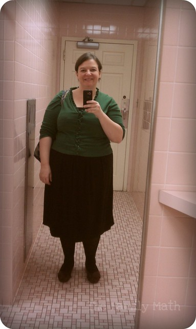 WWS Outfit - Dress and green cardi