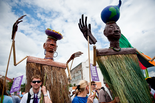 #cop17 puppets in rally