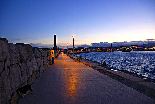 Twiliglight on Dun Laoighaire Pier