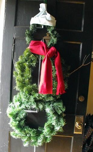 Snowman wreath 8