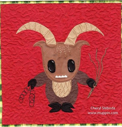 Krampus quilt