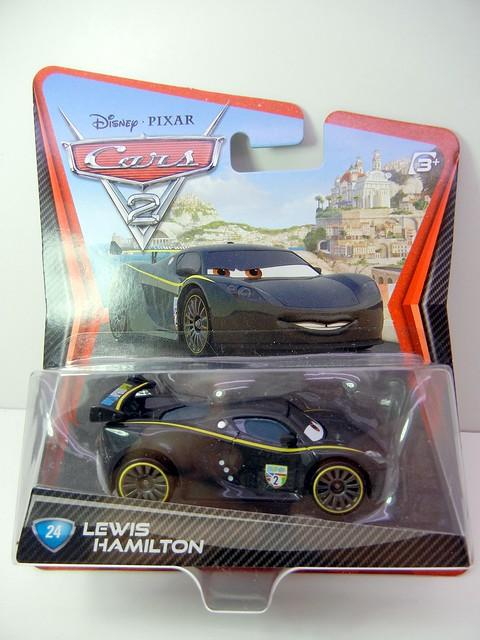 DISNEY CARS 2 LEWIS HAMILTON PLASTIC TIRES (1)