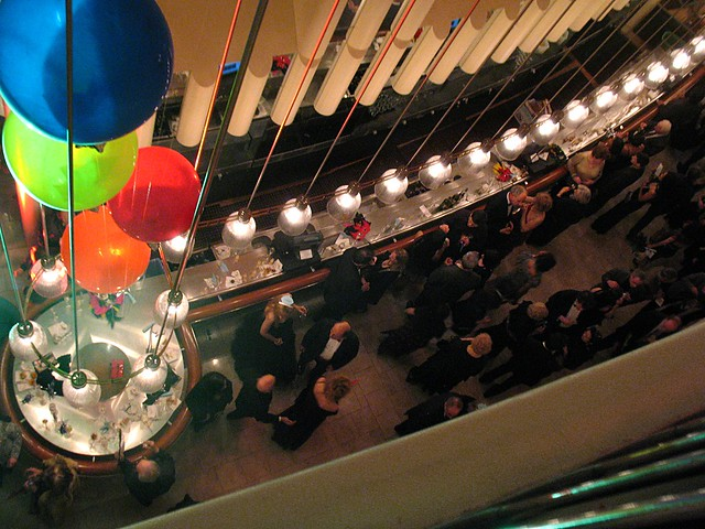 Revelers in the lobby of Davies Symphony Hall