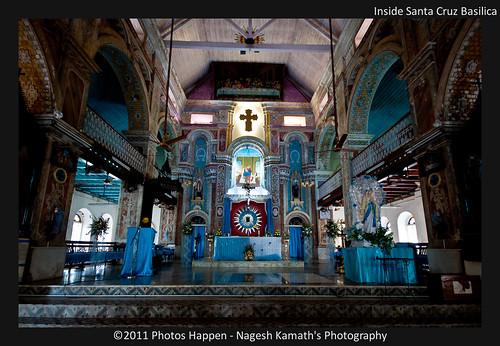 Inside Santa Cruz Basilica