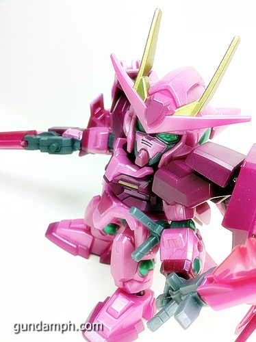 SD Gundam Online Capsule Fighter Trans Am 00 Raiser Rare Color Version Toy Figure Unboxing Review (54)