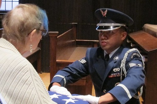 Travis AFB Color Guard at Wade Dickinson's Funeral