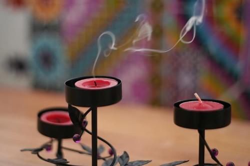 advent candle smoke