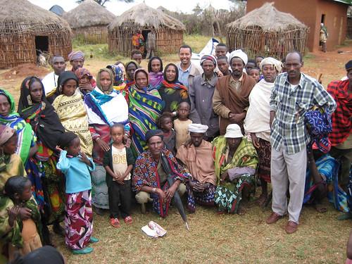 Ethiopian Boran community with ILRI's Seyoum Tezera (PARIMA project)
