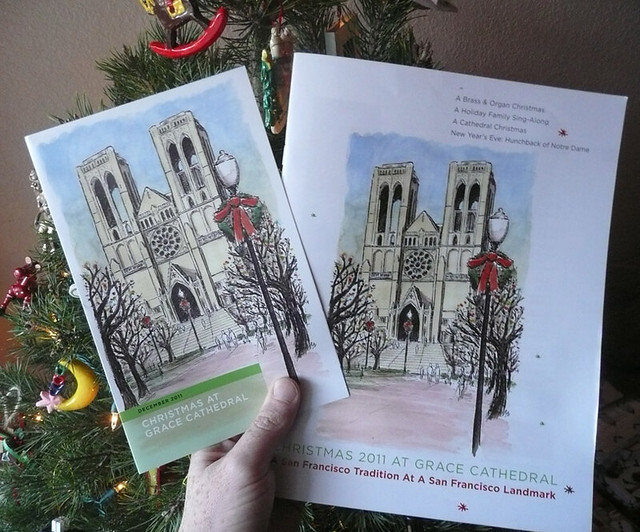 grace cathedral xmas brochures