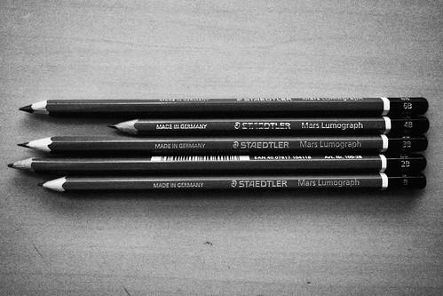 I like pencils, degree 4B