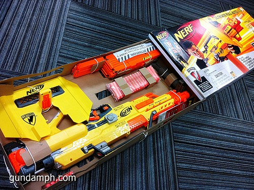 NERF Sale 50% Off Stampede Raider Recon Unboxing Review (16)