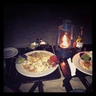 Nachos and Corona's on beach (Playa del Carmen)