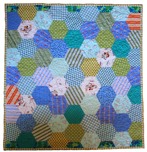 Hexagon Quilt - front