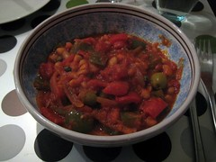 Bean & paprika stew