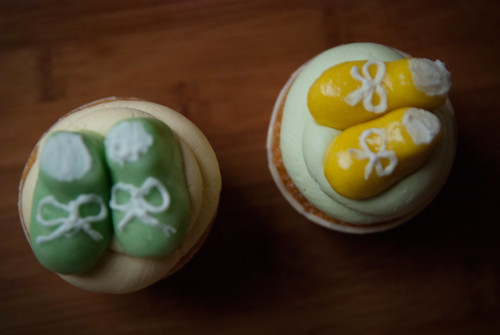 Surprise Baby Shower Cupcakes