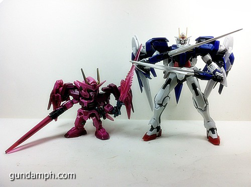 SD Gundam Online Capsule Fighter Trans Am 00 Raiser Rare Color Version Toy Figure Unboxing Review (48)