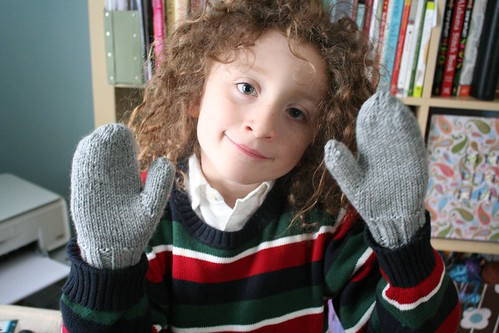 knitted :: kids' mittens