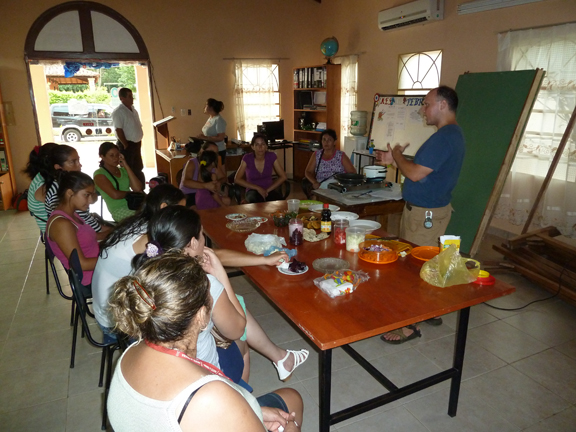 Kevin doing cooking charla