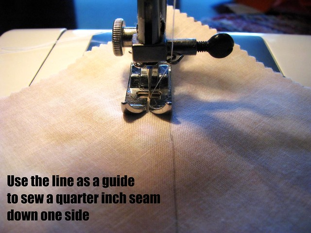 Half Square Triangle Tutorial: Sew a Quarter Inch Seam