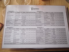 Vintry Enomatic Wine List, Clarke Quay