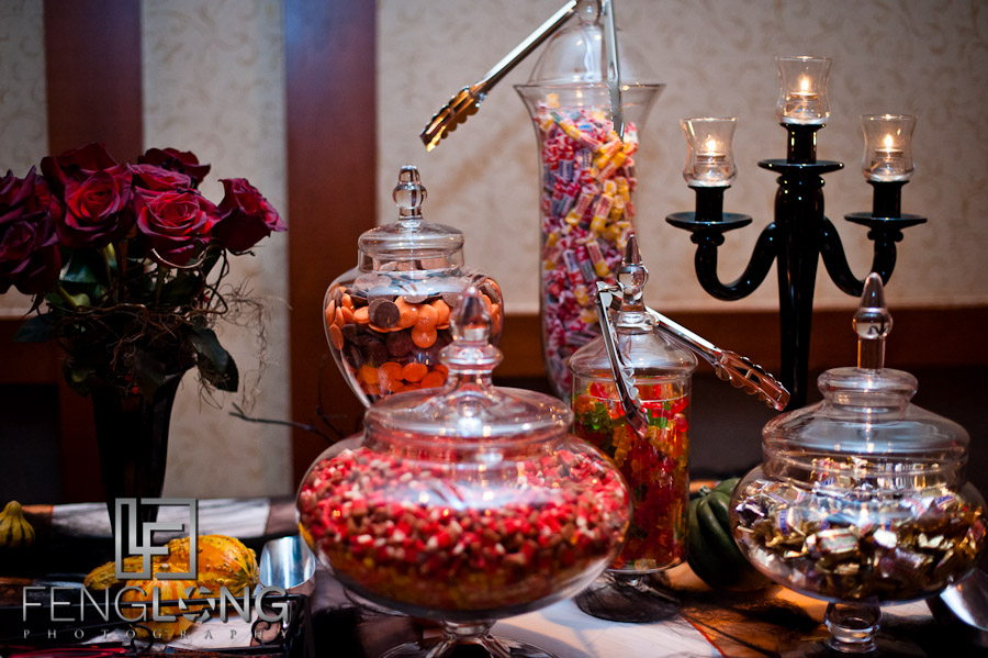 Candy table at reception | Lindsay & Josh's Wedding | Winters Chapel United Methodist Church & Emory Conference Center Hotel | Atlanta Wedding Photographer