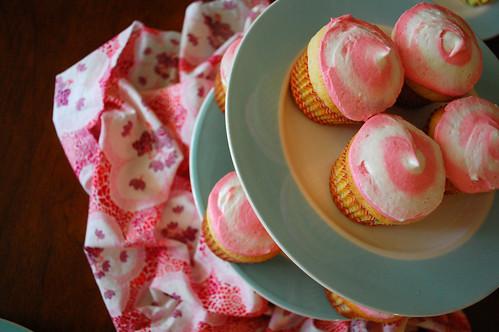 My swirly cupcakes.