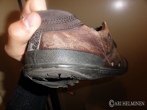 Old broken shoes