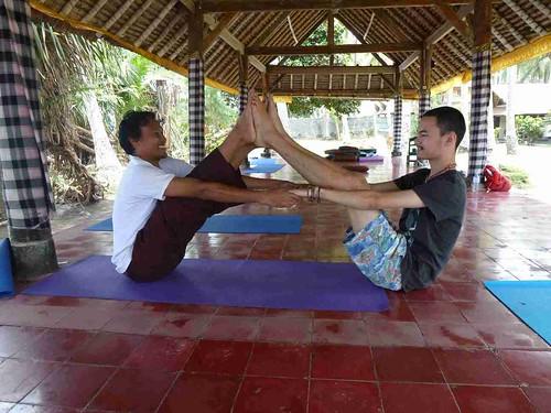Yoga class: Kawi and Jackson