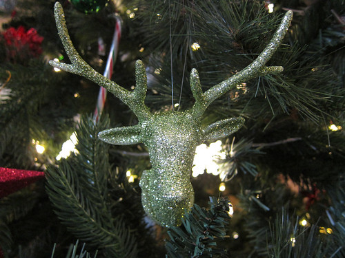 Green Glitter Stag