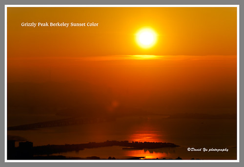 Grizzly Peak Berkeley Sunset Color by davidyuweb